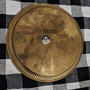 Vintage Dining - Vintage Brass Tray, 9 inches